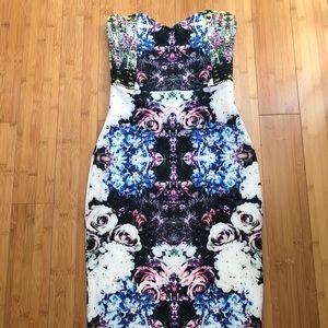Strapless Scuba Dress